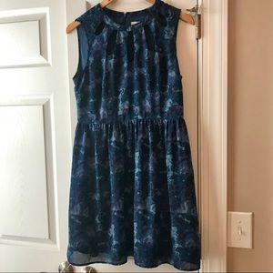Forever 21 Contemporary Blue Watercolor Sz M Dress